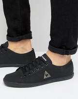 Le Coq Sportif Slimset Canvas Sneakers In Black 1610661