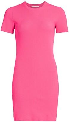 Helmut Lang Short-Sleeve Mini Dress