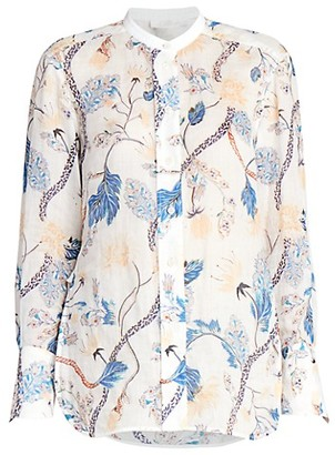 Chloé Floral Ramie Shirt