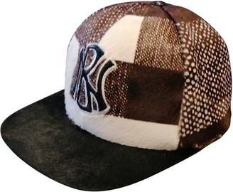 Neil Barrett Brown Fur Hats & pull on hats