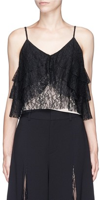 Alice + Olivia 'Vannessa' tiered floral guipure lace camisole