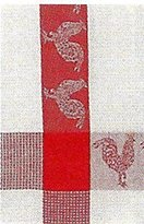 """Traders and Company 100% Cotton Red & White 20""""x28"""" Dish Towel, Set of 6 - Barnyard"""