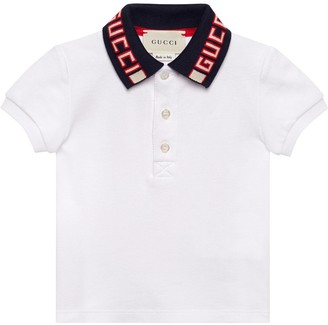 Gucci Baby cotton polo with stripe