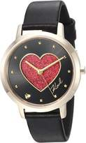 Karl Lagerfeld Women's 'Camille' Quartz Stainless Steel and Leather Casual Watch, Color: (Model: KL2241)