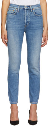 RE/DONE Blue Originals High Rise Ankle Crop Jeans