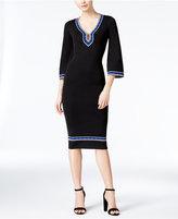 XOXO Juniors' Bell-Sleeve Midi Sweater Dress