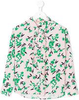 Marni printed ruffle shirt