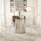 Inspire Q Elbridge Woven Drum Glass Dining Table
