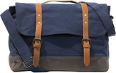Asstd National Brand Two-Color Canvas Messenger Bag
