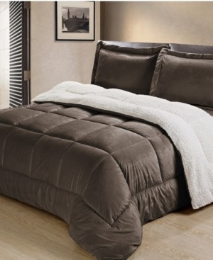 Cathay Home, Inc Ultimate Luxury Reversible Micromink and Sherpa King Bedding Comforter Set Bedding