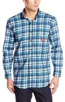 Dickies Men's Flame-Resistant Long Sleeve Plaid Shirt