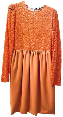 MSGM Orange Lace Dress for Women