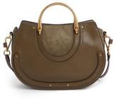 Chloé Medium Pixie Top Handle Leather Satchel - Green
