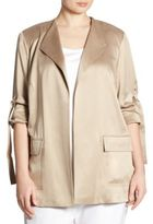 Lafayette 148 New York, Plus Size Halden Open-Front Silk Jacket