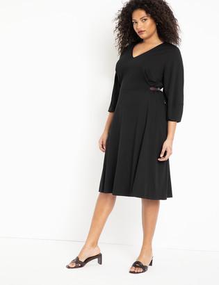 ELOQUII Buckle Waist Dress