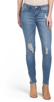 Juniors 5 Pocket Mid Rise Jeans