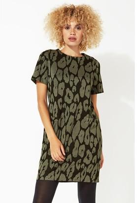 M&Co Roman Originals animal leopard print shift dress