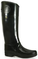 Hunter Sandhurst Carlyle - Black Rubber Rain Boot