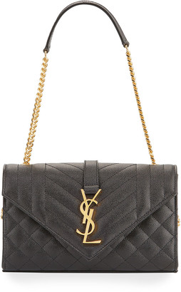 Saint Laurent Small Monogram Leather Satchel Bag