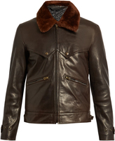Acne Studios Arthur leather and shearling coat