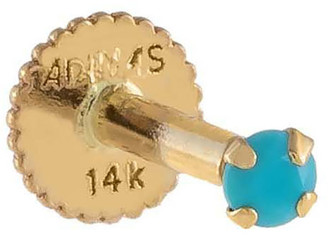 Adina's Jewels 14k Gold Tiny Turquoise Single Stud Earring