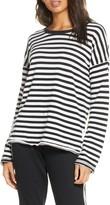 PJ Salvage Black Out Stripe Long Sleeve Sleep Shirt