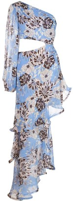 Alexis Sabetta asymmetrical floral print dress