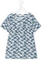Nice Things fish print dress - kids - Linen/Flax/Rayon - 8 yrs