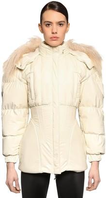 Marine Serre Puffed Sleeve Techno Puffer Jacket