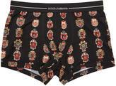 Dolce & Gabbana Black Crest Boxer Briefs