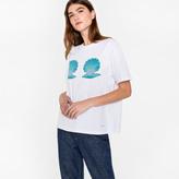Paul Smith Women's White 'Shells' Print Cotton T-Shirt