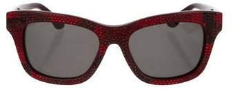 Valentino Embellished Tinted Sunglasses