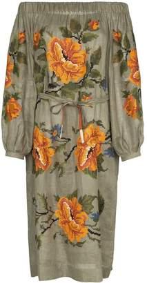 Vita Kin Gypsy Queen off-the-shoulder linen dress