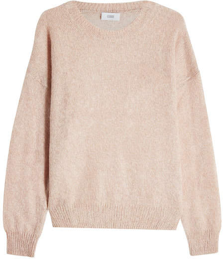 Closed Pullover with Mohair and Wool