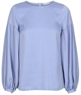 2nd Day Blue Polyester Milly Top - polyester   blue   38 - Blue/Blue