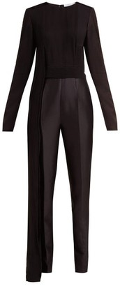 Gabriela Hearst Ephesus Pleated Silk Crepe De Chine Jumpsuit - Black