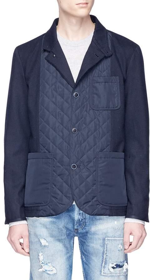 Denham Jeans 'Magnesium' quilted panel soft blazer