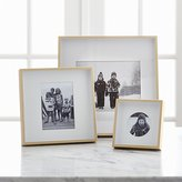 Crate & Barrel Brushed Brass Picture Frames