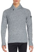 Ben Sherman Knit Shawl Collar Sweater