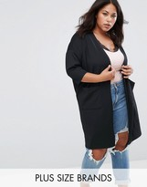 Junarose Longline Cardigan With Pleat Hem
