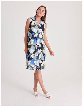 Regatta High V Neck Sleeveless Dress With Front Pleat