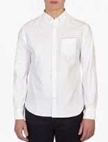 Officine Generale White Heavy Cotton Shirt