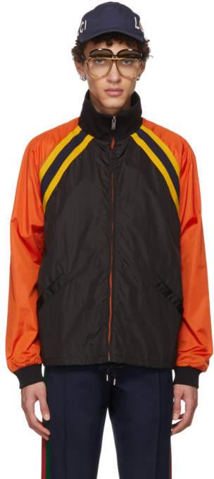 Gucci Black Colorblock Windbreaker Jacket