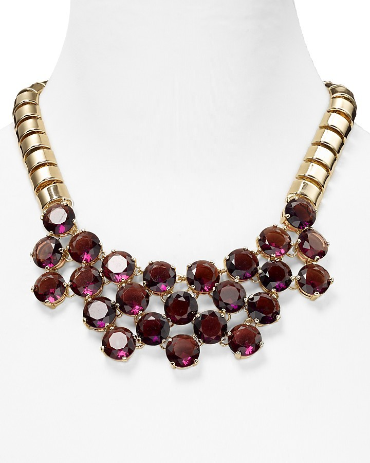 "Aqua Jewel Collar Faceted Necklace, 18"""