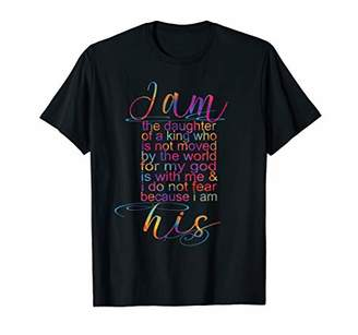 Great Christian Quotes I Am His Scripture For Women Gift T-Shirt