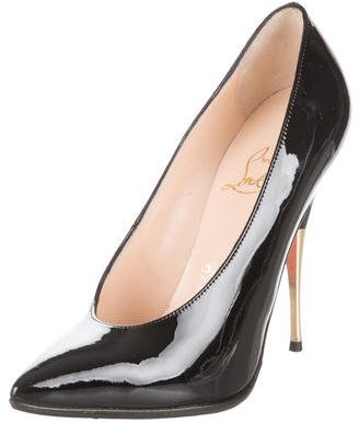 Christian Louboutin Pointed-Toe Patent Leather Pumps