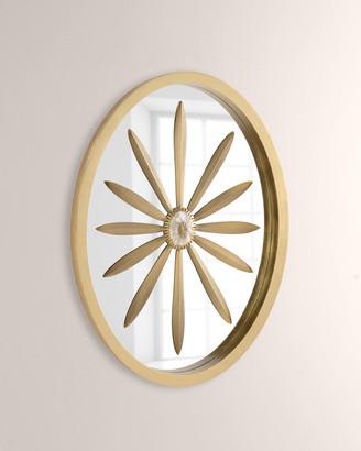 John-Richard Collection Oval Leaf & Geode Mirror