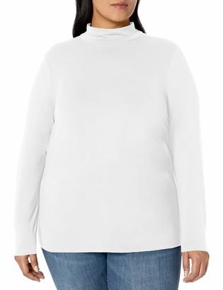 Amazon Essentials Plus Size Long-sleeve Mockneck T-Shirt