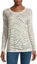 A.N.A a.n.a Long-Sleeve Animal Burnout Sweater