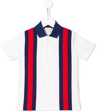 Gucci Kids Colour-Block Polo Shirt